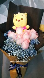 AHB9592 - Soft Toy baby breath & roses
